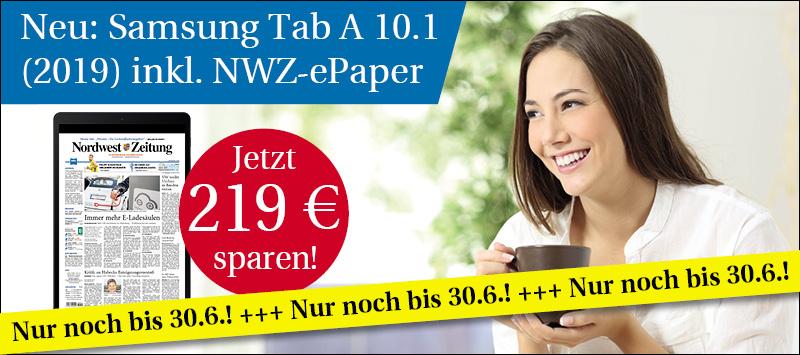 NWZ-ePaper inkl. Galaxy Tab A 10.1 (2019)