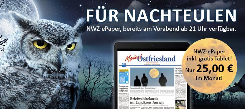 NWZ-ePaper Ostfriesland inkl. Samsung Galaxy Tab A7