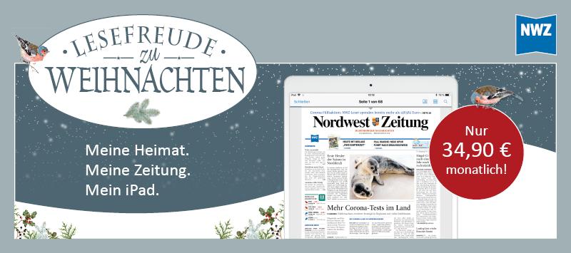 Weihnachtsangebot: NWZ-ePaper inkl. iPad 10.2