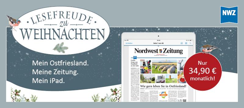 Ostfrieslandangebot: NWZ-ePaper inkl. iPad 10.2