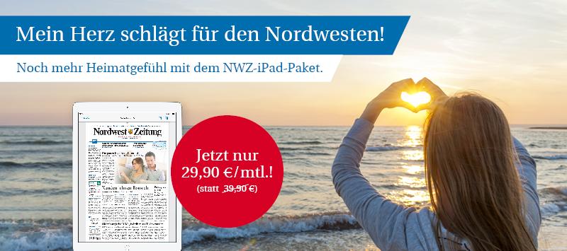 Valentinsangebot: NWZ-ePaper inkl. iPad (2019)